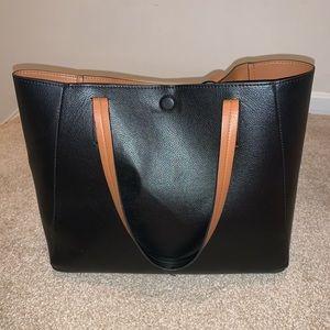 Reversible Black and Brown Tote Bag